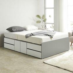 노뎀 높은 2단 도어중앙형 침대 퀸+본넬 매트리스