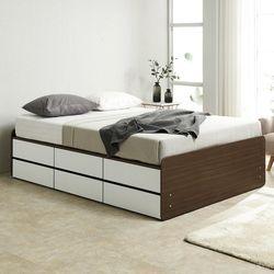 노뎀 높은 2단 전체서랍형 침대 퀸+독립 매트리스