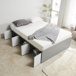 노뎀 높은 전체도어형 침대 퀸+7존독립 매트리스