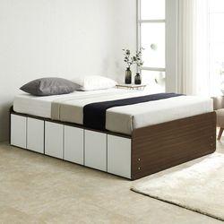 노뎀 높은 전체도어형 침대 퀸+독립 매트리스