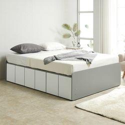 노뎀 높은 전체도어형 침대 퀸+본넬 매트리스
