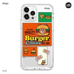 라인프렌즈 버거타임 아이폰12 아이폰11 케이스-브라운