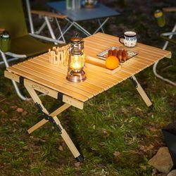 레토 캠핑 접이식 높이조절 우드 롤 테이블 LCT-WR03