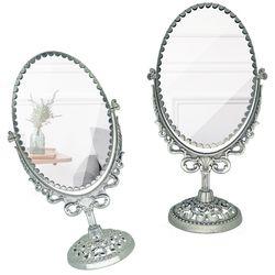 예쁜 카페 소품 월계수 타원형 화장 거울 대형