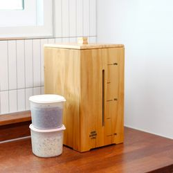 내츄럴 원목 쌀통 보관함 10kg
