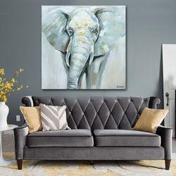 PL2589 코끼리 캔버스 유화그림액자 100cm