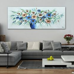 PL2567 블루화병 캔버스 유화 그림액자  (160cm)