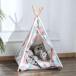 고양이 인디언 텐트 하우스 고양이용품