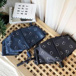 스마일 3단 양산 겸용 수동 우산 2color