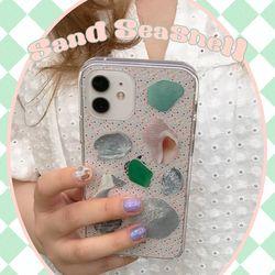 [뮤즈무드] sand seashell (clear) 아이폰케이스  미리보기