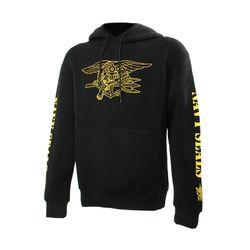 [726 기어] 네이비씰 로고 후드 티셔츠 (블랙)