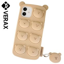 아이폰XR 곰돌이 베어 쿠션 커버 실리콘 케이스 P622