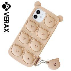아이폰SE2 곰돌이 베어 쿠션 커버 실리콘 케이스 P622