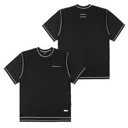 LIGHT WEIGHT SEMI OVER T-SHIRTS BLACK