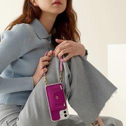[갤럭시]Knitting - Card Phone case(카드 수납 가죽 폰케이스)