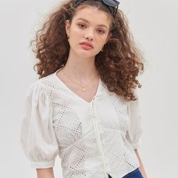 RUCY LACE BLOUSE(WHITE)