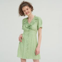 RUFFLE POINT MICA ONEPIECE(GREEN)
