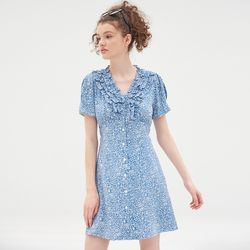 RUFFLE POINT MICA ONEPIECE(BLUE)