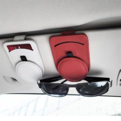 차량용 썬바이저 가죽 카드수납 선글라스 안경 클립