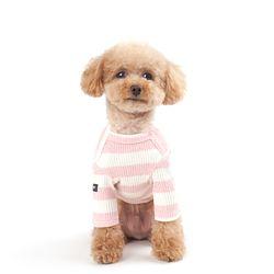 WEFAM 빅 스트라이프 티셔츠-Pink