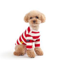WEFAM 빅 스트라이프 티셔츠-Red