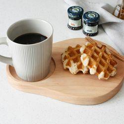 원목 디저트 커피접시