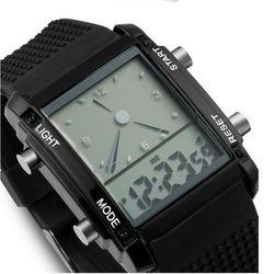 디지털 Holidas Chrono Black 손목시계 와치1086