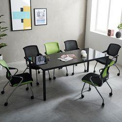 T5 미팅테이블 세트 1800 포그니 6인용 회의탁자 사무실