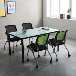 T4 미팅테이블 세트 1500 포그니 4인용 회의탁자 사무실