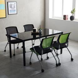 T5 미팅테이블 세트 1200 포그니 4인용 회의탁자 사무실