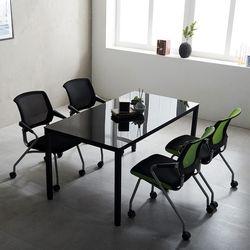 T5 미팅테이블 세트 1500 포그니 4인용 회의탁자 사무실