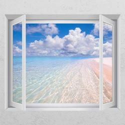 td479-맑은바다창문그림액자