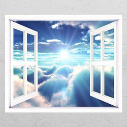 tj155-태양과하늘풍경창문그림액자