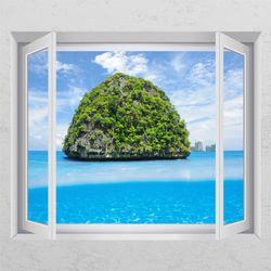 tj156-아름다운섬창문그림액자