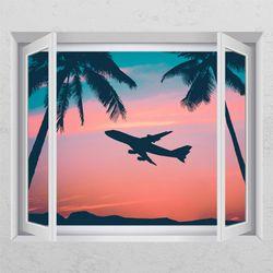 tj162-하와이여행창문그림액자
