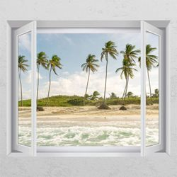 tl805-바람이부는바닷가창문그림액자