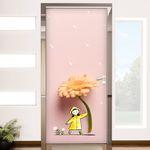 td414-꽃일러스트(우산)현관문시트지