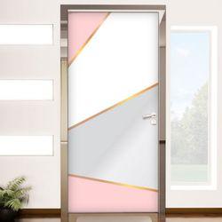 tl757-핑크금박라인현관문시트지