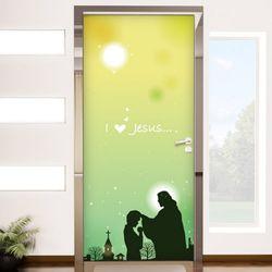 ir303-예수님과소년현관문시트지