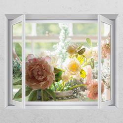 ac900-아름다운꽃병창문그림액자