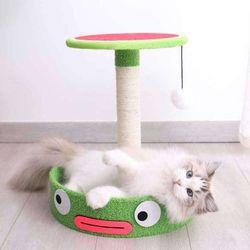 개구리 캣타워 고양이용품 수직스크래처