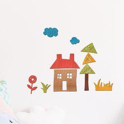 아이방스티커 우드아트꾸미기 - 집 (W598) 컬러링 색칠공부