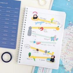 모모스티커 제주 여행 시리즈 스티커