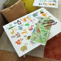 아이들 공부상 알파벳 접이식테이블 대 800x600