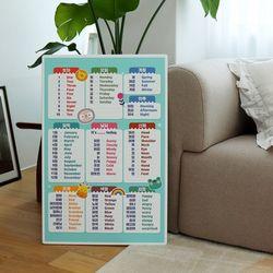 아이들 공부상 영단어 접이식테이블 소 600x400