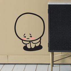 귀여운 구석탱이 쭈구리 캐릭터 인테리어 스티커 small
