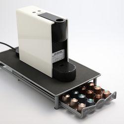 커피캡슐 보관함 슬림 서랍형 40구 거치대 디스펜서