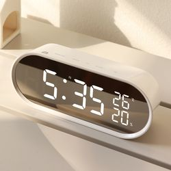무아스  팝 미러클락 빅 LED 탁상시계 거울  온도 습도