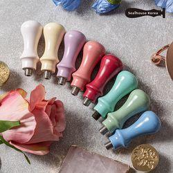 마카롱 미니 우드핸들 실링작업용 (8color)