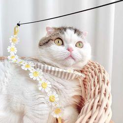 개달당 동백꽃 낚시대 고양이 끈 장난감 카샤카샤 리필 색상랜덤